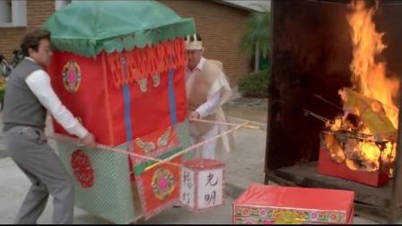 男子给鬼老婆烧花轿,谁知鬼老婆太胖坐上轿子,4个猛鬼都抬不起