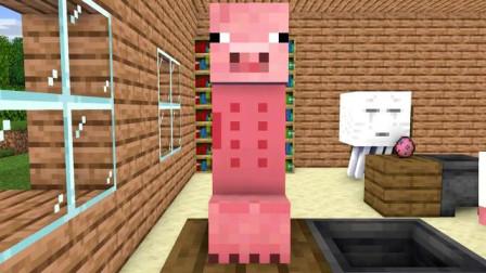 我的世界动画-怪物学院-小猪挑战-MoshiMoshieCraft