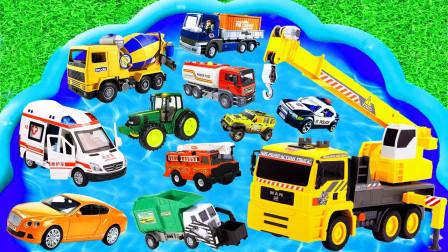 孩子的玩具启蒙乐园跑车搅拌车公交车拖拉机挖掘机救护车消防车推土机