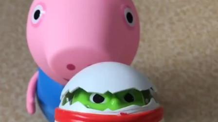 猪妈妈给乔治买变形蛋原来是蛋蛋侠呀乔治给蛋蛋侠戴荷叶帽