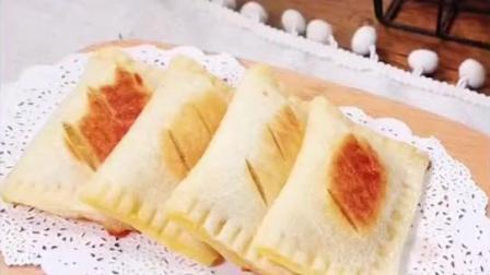 不用烤箱不油炸,用平底锅就能做的苹果派,同样的方法还可以做菠萝派、香芋派哦