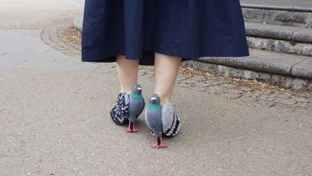 最奇葩的高跟鞋,仿造鸽子做的高跟鞋,鸽子都认不出真假!