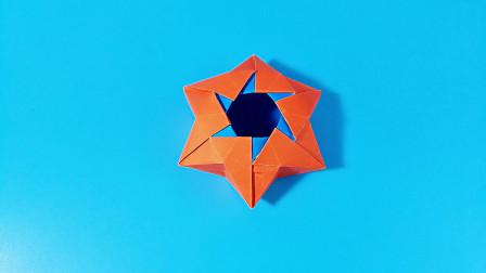 教你折纸六芒星盒子,简单漂亮,一学就会