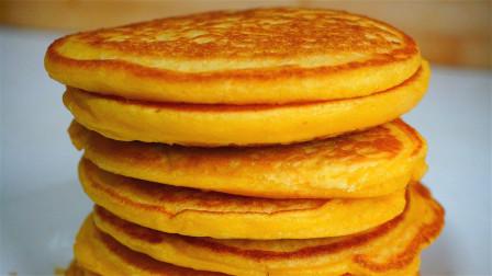 北方最爱的玉米面饼子,粗粮细做,手不沾面松软香甜,好吃好消化