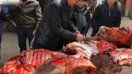 农村镇上杀牛了,牛肉涨价,38块钱一斤,大家觉得贵吗?