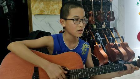 《两只老虎》张嘉毅同学学习吉他视频