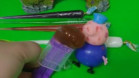 猪爷爷用果酱做糖果吃,糖果样子不好看的,味道还是不错的呢!