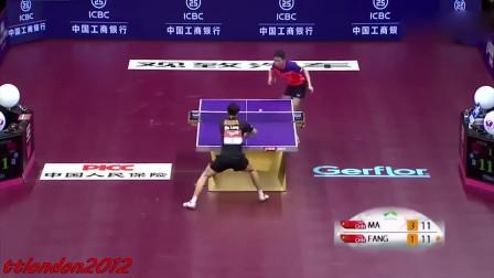 这是我见过马龙速度最快的一次乒乓球对打!快的连球都看不清!