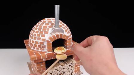 迷你砖块借助气球,做了个圆顶烤炉,顺便烤个迷你披萨