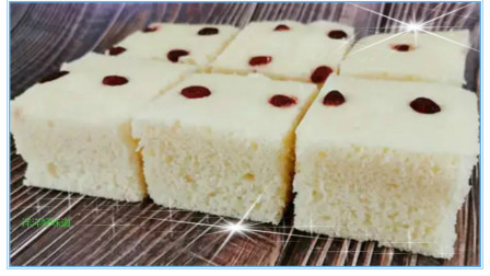 奶香发糕最简单的做法,手不沾面,香甜松软不塌陷,比馒头还简单