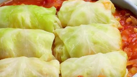 鲜美软嫩~茄汁鲜虾菜卷的做法