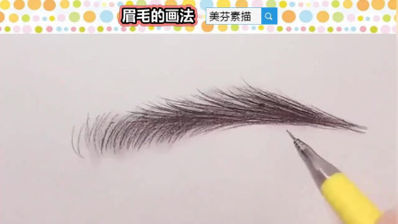 画素描人像,如何画出好看的人物五官眉毛?这个方法简单实用!