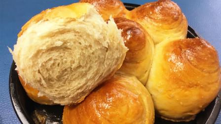 一个鸡蛋一碗面粉,在家自制全麦面包,香甜松软,一次就成功