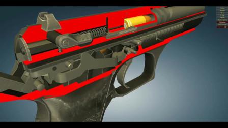 揭秘极少人了解杰里科941式9mm手枪,3D动画演示工作原理