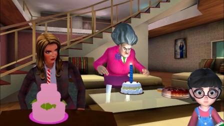 塔米给两个老师庆祝生日,但是老师都没吃上蛋糕!
