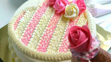 裱花蛋糕, 精致感十足, 都能当一件艺术品了 月季花裱花 韩式裱花
