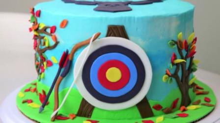 网红弓箭生日蛋糕制作全过程创意手工制作蛋糕教程做法