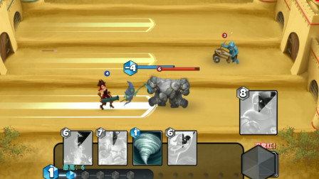胖虎游戏:城堡粉碎战,收割者藏在巨人的后面,尽情的收割对手!