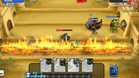 胖虎游戏:城堡粉碎战,魔法师的伤害是真高,这把胜利给了个魔法宝箱!