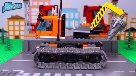城市机械手脱离履带车轮玩具汽车 圆孩子一个工程梦