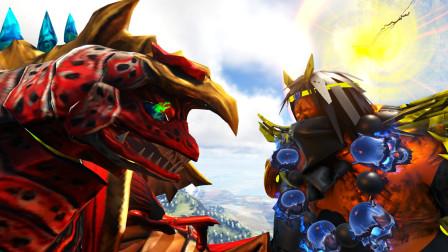 小祁游戏:5头怪兽合体而成的五帝王,对战西游沙僧,谁能胜利