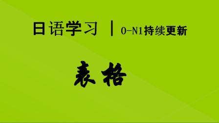 日语学习︱一张非常重要的表格,一张表格学完基础语法