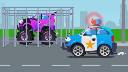 哪怕你有再大的能耐也逃不出小警车的五指山!汽车总动员游戏