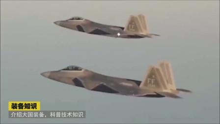 """F-22""""猛禽""""战斗机展示双机编队飞行"""