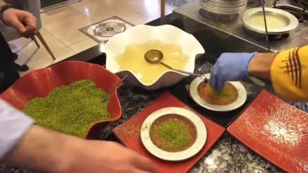 土耳其甜品师做的甜品,最后绿绿的是什么啊?