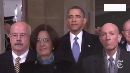 奥巴马就职典礼时的巅峰时刻,妻子女儿一脸骄傲