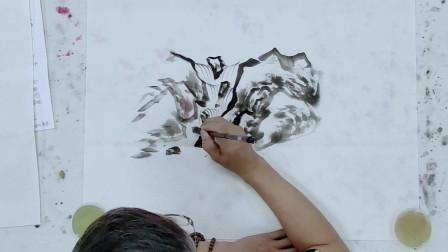 山水画教程:刘树海先生教你用线表现水的画法
