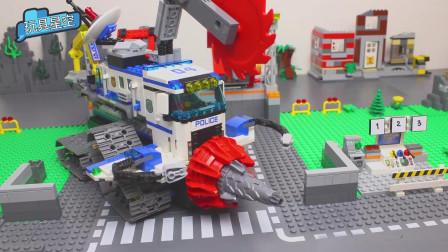 儿童工程车积木玩具改装成电钻和风火轮切割车,玩具店卖的很好