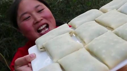 韭菜盒子怎么才好吃,胖妹花20元,做法简单美味,比外面卖的还好吃