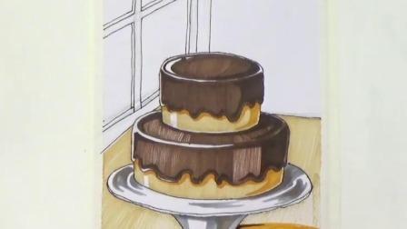 如何画出世界美食创意绘画提高课 鼠妈妈的生日蛋糕