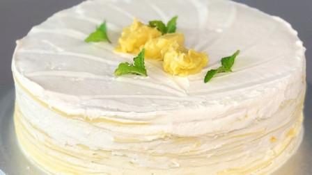 奶香浓郁,绵密丝滑的榴莲千层蛋糕