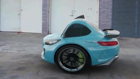 塞尔维亚制造的两个轮子的汽车,你见过吗这能跑多快啊