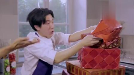 谢霆锋反应迟缓摔坏蛋糕,房祖名一脸憎恨,怒打蛋糕!