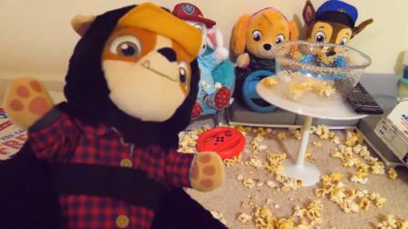 汪汪队立大功的欢乐零食聚会,太好玩了吧,卡通玩具益智动画片