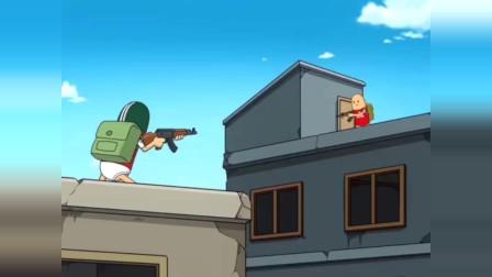 搞笑吃鸡动画 霸哥和双煞菜鸡互啄拳王霸哥PK咏春谁更强