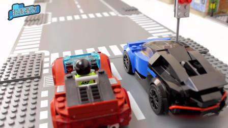 儿童益智积木小颗粒跑车小组PK赛   赛出风采赛出水平