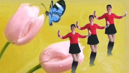 唐江舞动人生原创32步广场舞《等到花儿开》正面演示十歌词
