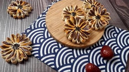 原创好看又好吃的传统中式糕点-菊花酥