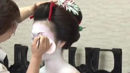 日本艺伎妆难不难画,当我看见化妆刷的一刻懂了!