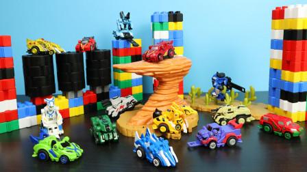跳跃战士玩具小汽车 变形飞越高难度区域