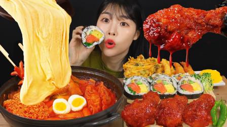 韩国吃货美女上线吃播:香辣炸鸡与麻辣香锅,看着都让人流口水