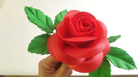 面塑玫瑰花制作 手工工艺 教学红玫瑰 面塑视频  玫瑰文化