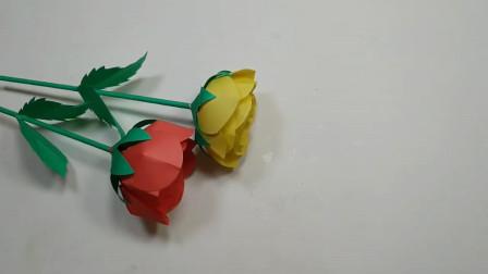手工纸艺DIY,漂亮玫瑰花的制作方法,简单易学!