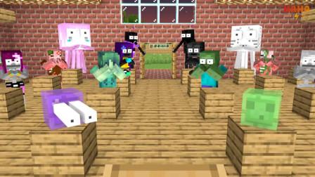 我的世界动画-怪物学院-帮Herobrine找金子-Haha Animations