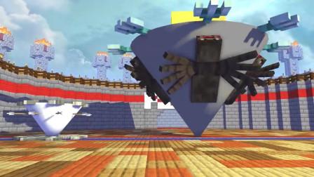 我的世界动画-怪物学院-巴迪的战斗陀螺-MineCZ