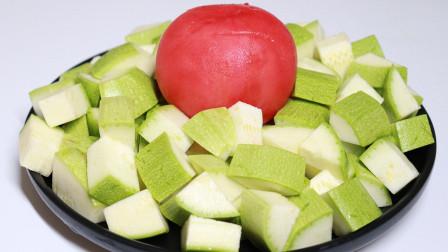 1个西红柿,2个西葫芦,做一道简单家常菜,开胃解馋太下饭了